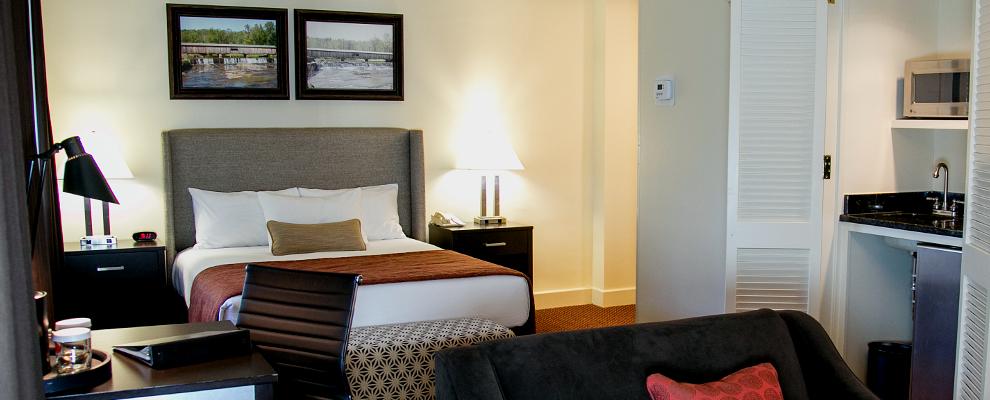View of the bed - Regency Queen suite