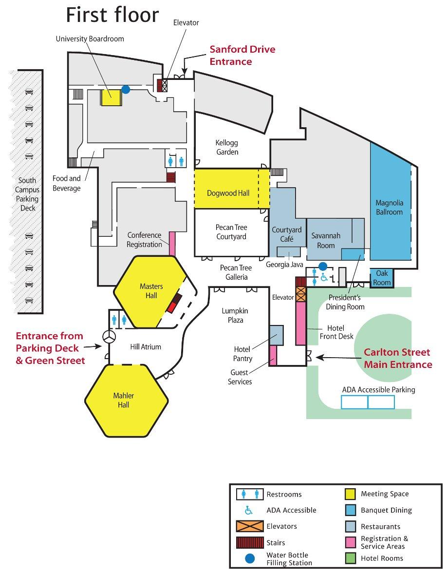 Georgia Center Floor Plan - First Floor
