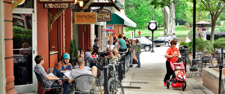 Athens GA restaurants and coffee shops