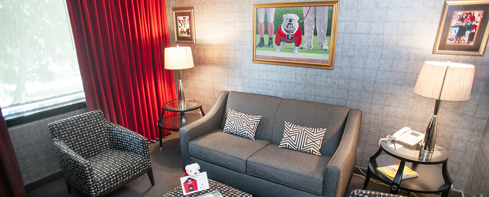 the Uga Suite in Athens, GA Hotel