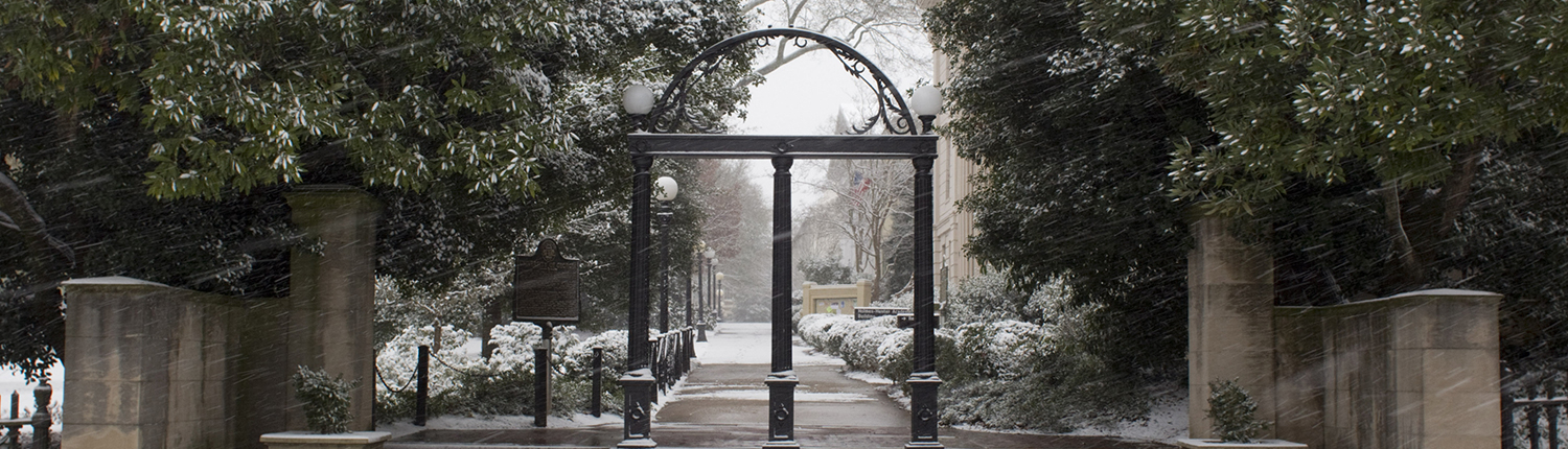 UGA North Campus, Chapel Arch and Downtown Snow Scenes