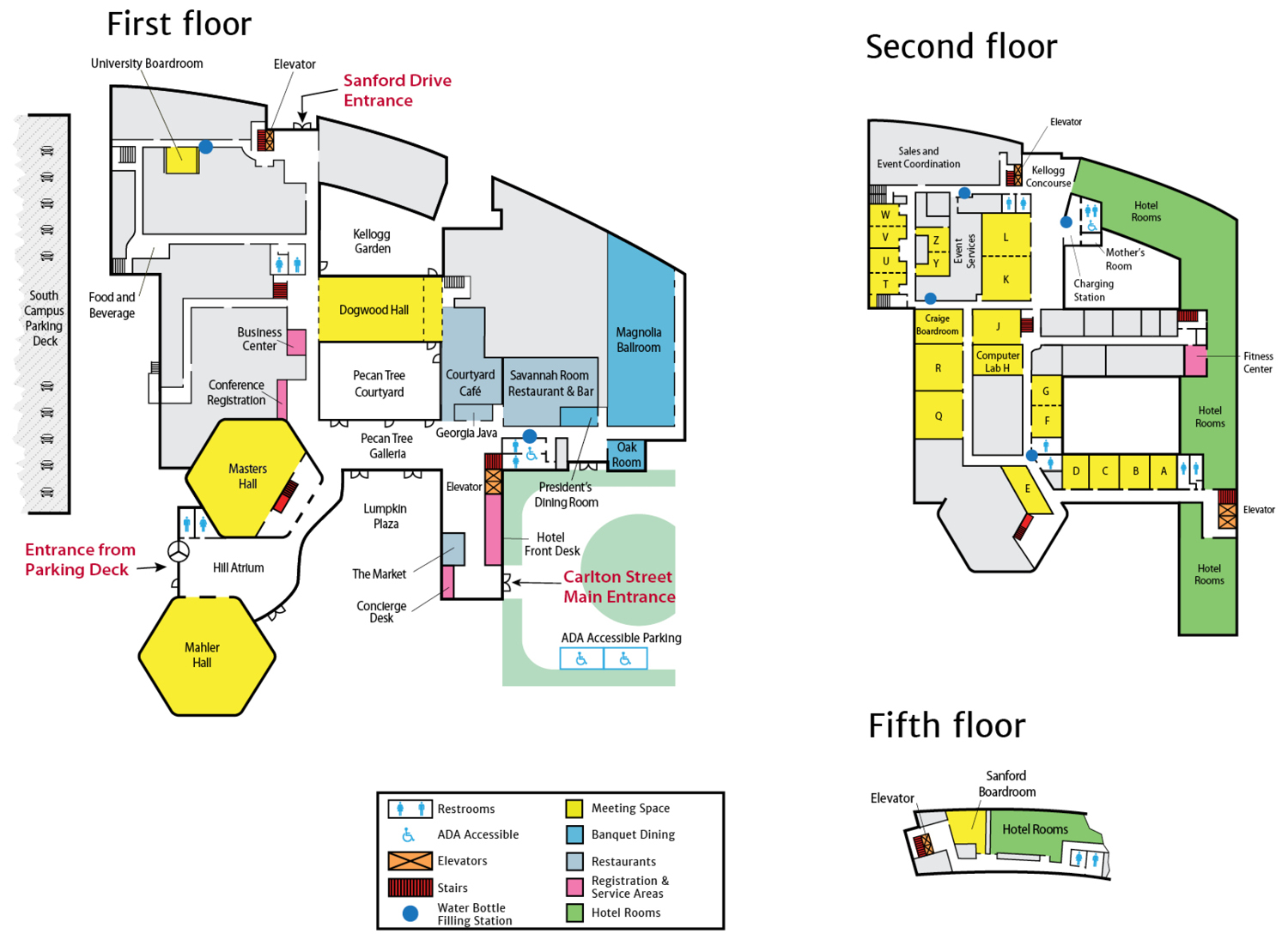 UGA Hotel Conference Center Property Map