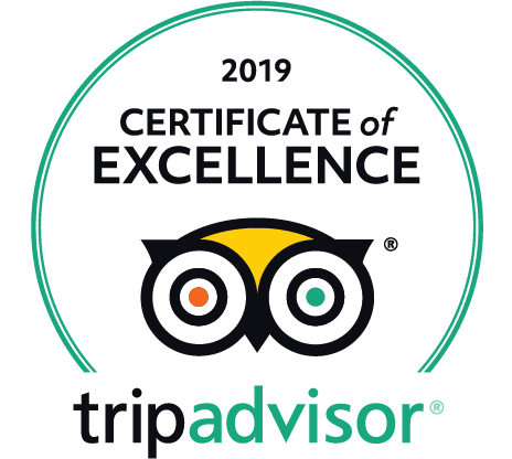 2019 Certificate of Excellence from TripAdvisor