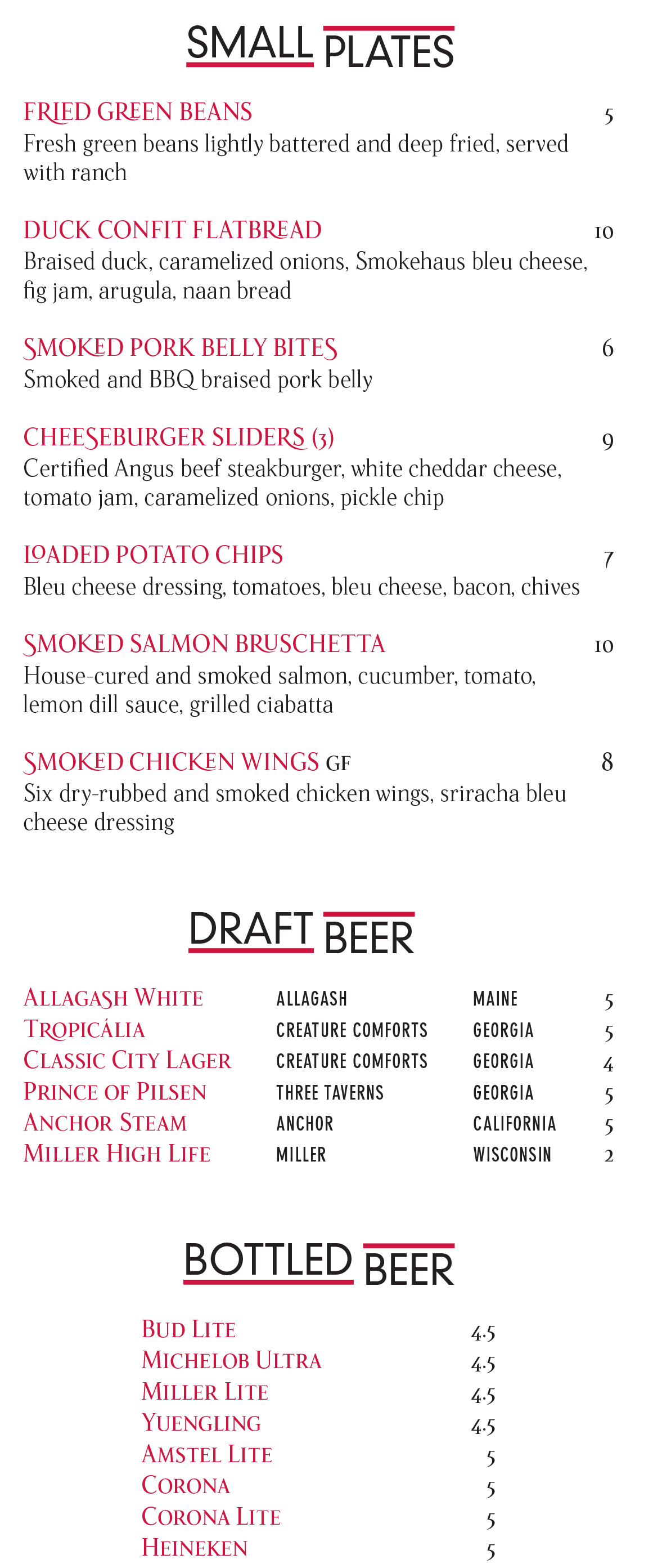 Small Plates and Draft Beer at the Georgia Center's Bulldog Bistro on UGA Campus