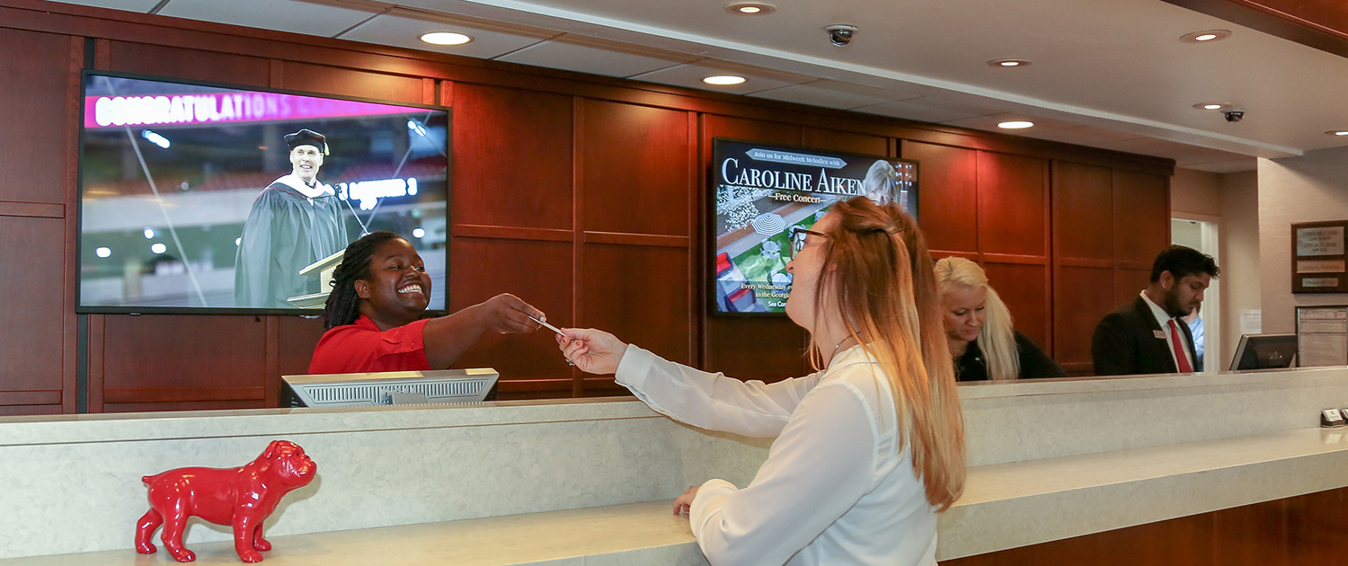 Front Desk at the UGA Hotel