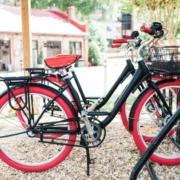 Bikes for borrowing at Athens, GA hotel amenities